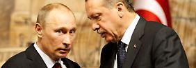 Putin und Erdoğan sahen sich lange als Partner. Im Syrien-Konflikt vertreten sie dagegen unvereinbare Positionen.