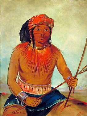Ein Vertreter des Indianderstamms Choctaw aus dem Südosten der USA.