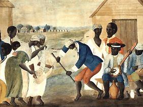 Afrikanische Sklaven im US-Bundesstaat South Carolina (Bild um 1780).
