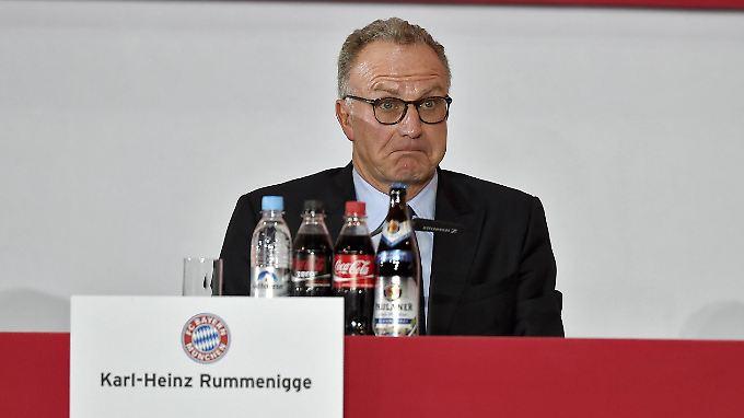 Eigentlich sollte Karl-Heinz Rummenigge feiern. Stattdessen ist der FCB-Vorstand sauer.