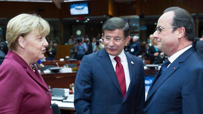 Die meisten Staats- und Regierungschefs der EU trafen bereits am Sonntag in Brüssel ein.