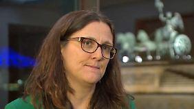 """Eu-Handelskommissarin Malmström: """"Ich denke, TTIP kann nicht mehr scheitern"""""""