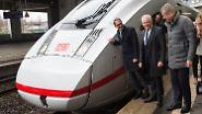 Alle wollen dabei sein, wenn das neue Leichtgewicht der deutschen Bahn getauft wird: Verkehrsminister Alexander Dobrindt (CSU), Bahn-Chef Rüdiger Grube sowie Jochen Eickholt, der Chef der Bahnsparte bei Siemens.