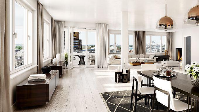"""Ein Penthouse im """"High Park"""" am Potsdamer Platz: 11.000 Euro soll der Quadratmeter kosten."""