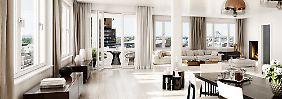 """Wer ein Penthouse im dreizehnten Stock des """"High Park"""" bewohnt, schwebt über Berlin."""