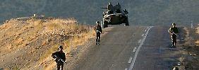 Türkische Soldaten an der Grenze zum Irak (Archivbild).