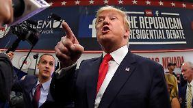 US-Republikaner debattieren: Trump provoziert und pöbelt erneut