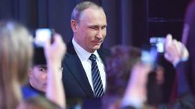 Ein dankbares Format für Putin: die traditionelle Jahrespressekonferenz.