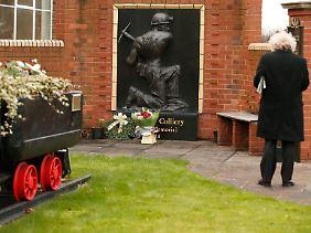 Ein Gedenkstein für die Bergarbeiter von Kellingley Colliery.