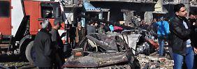 In der schwer zerstörten Stadt Homs.