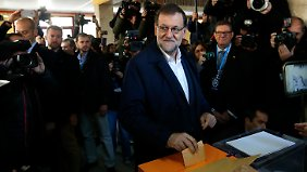 Rajoy bei der Wahl am 20. Dezember.