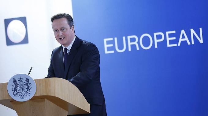 """David Cameron sagte gegenüber der BBC bereits, dass ihm die Pläne einer """"Notbremse"""" nicht ausreichen."""
