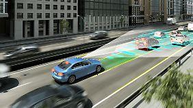 Bosch peilt beim Autonomen Fahren das Jahr 2020 als wichtige Zäsur an.