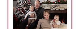 Monaco wünscht ein frohes Fest: Fürst, Frau & Zwillinge senden protzige Grüße