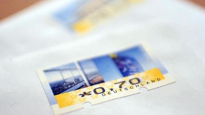 Die Post hatte 2016 das Porto für einen Standardbrief von 62 auf 70 Cent erhöht.