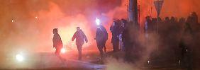 So verraucht wurde Silvester in vielen Städten gefeiert: Feuerwerk in Leipzig.