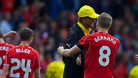 Schon einmal begegneten sich Jürgen Klopp und Steven Gerrard.