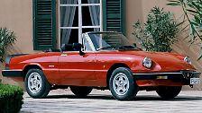 Von dem Run auf Faltdach-Fahrzeuge profitierten nicht zuletzt Oldies wie der 20 Jahre alte Alfa Spider und ...