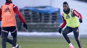 Bakery Jatta aus Gambia kämpft um einen Vertrag beim HSV.