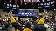 Trump provoziert mit fast jeder seiner Aussagen - seine Umfragewerte im Vorwahlkampf steigen trotzdem an.
