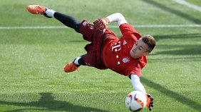Mit 16 Jahren ist Christian Früchtl der Jüngste im Bayern-Trainingslager.