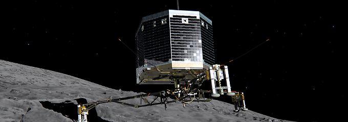 """Seit September wartet das DLR vergeblich auf ein Zeichen des Roboters. Die Muttersonde """"Rosetta"""" konnte seit dem 9. Juli keine Verbindung mehr aufbauen."""