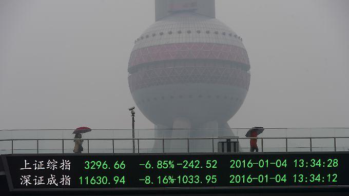 China erlebte zwei Börsen-Crashs in einer Woche.