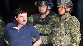 Guzmán nach seiner erneuten Festnahme