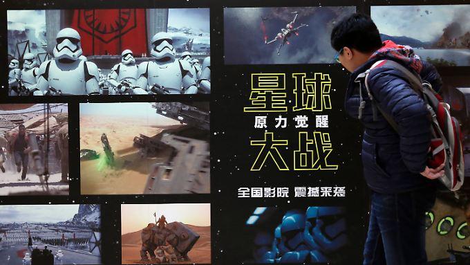 """In China läuft """"Star Wars"""" mit Verspätung an: Rekordeinnahmen gibt es allerdings nicht."""