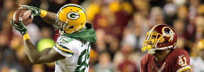 Erst im Rückstand, dann in der Führung: Die Green Bay Packers gewinnen gegen die Washington Redskins.
