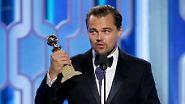 Schaurig schöne Golden Globes: DiCaprio vergoldet sich, Perry verkleidet sich