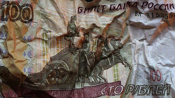 Seit Beginn der Ukraine-Krise hat der Rubel rund 60 Prozent an Wert verloren.