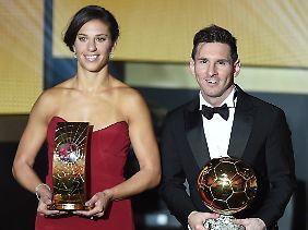 Die besten Fußballer 2015: Carli Lloyd und Lionel Messi.