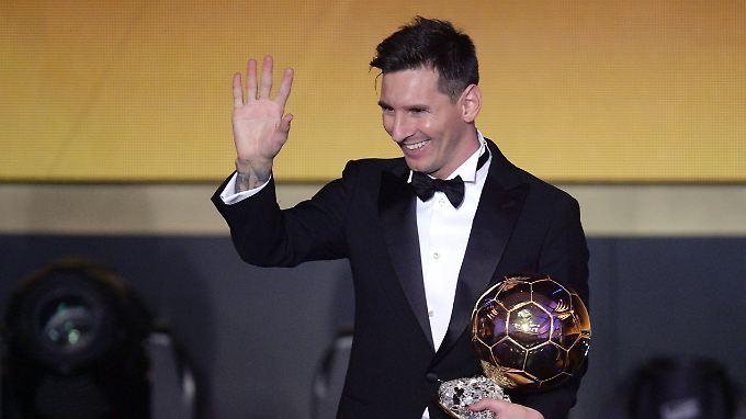 Gut, besser, Messi: Der Argentinier vom FC Barcelona ist wieder einmal Weltfußballer.