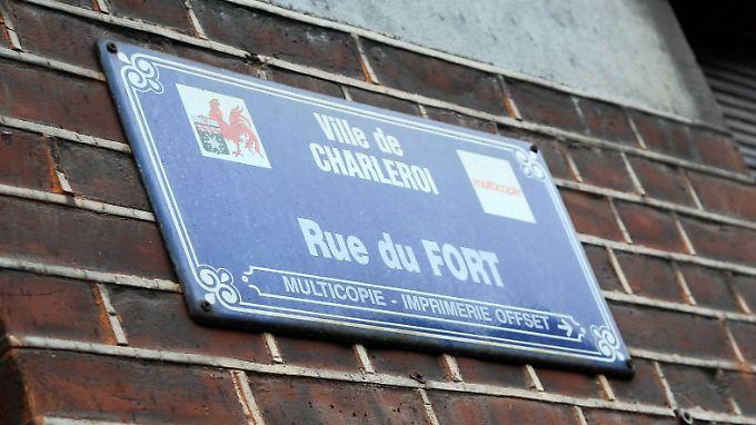 Das Versteck der Pariser Attentäter soll in dieser Straße im südbelgischen Charleroi gewesen sein.