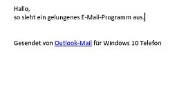 Outlook hat eine sehr luftiges Design.