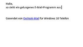 Outlook hat eine sehr luftiges Design.