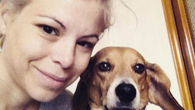Immer an der Seite von Ashley Olsen war ihr Hund Scout.