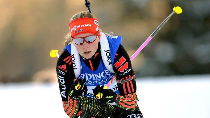 0,9 Sekunden fehlten Franziska Hildebrand zum dritten Platz.
