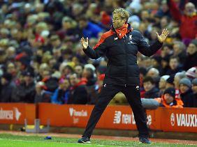 Mit vollem Einsatz dabei: Jürgen Klopp scheint vorläufig in Liverpool angekommen.