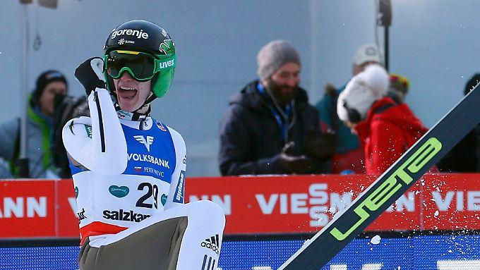 Goldjunge des Winters: Peter Prevc steht nach dem Tournee-Sieg auch vor dem Gewinn des WM-Titels im Skifliegen.