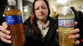 Das Trinkwasser in Flint ist mit Bakterien und Blei belastet.