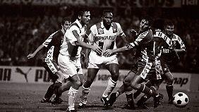 1991 bezwingt Rot-Weiß Erfurt überraschend den FC Groningen und zieht in die zweite Runde des Uefa-Cups ein.