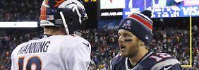 Auf ein Neues: Peyton Manning und Tom Brady.