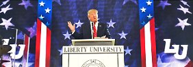 Große Bühne für den Präsidentschaftsbewerber: Donald Trump.