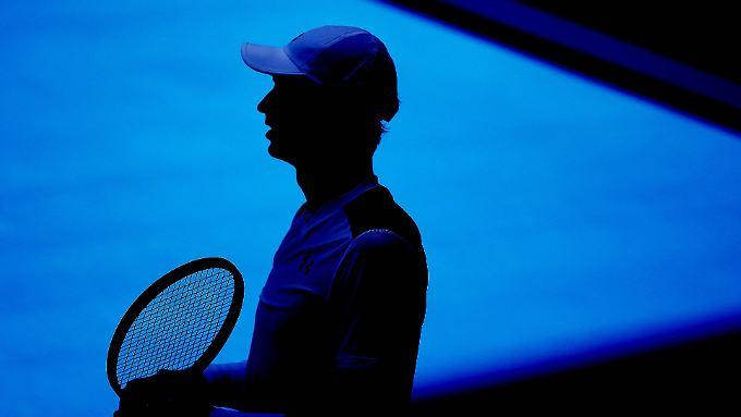 Silhouette von Andy Murray bei den Australian Open