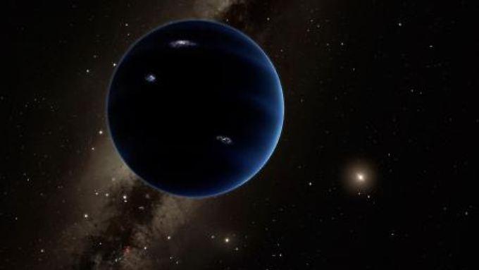 """""""Planet Neun"""" ist rund 5000-mal schwerer als Pluto. Im Bild: Grafik des weit entfernten Planeten."""