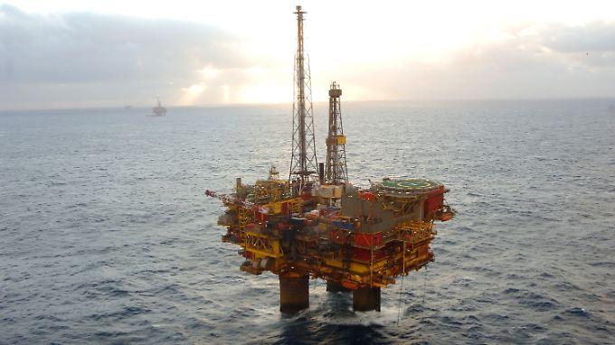 Die Brent Delta Plattform von Shell in der Nordsee.