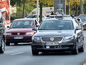 """VW Passat """"Leonie"""" im echten Straßenverkehr."""