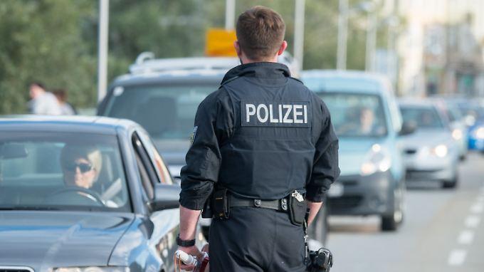Hier kontrolliert die Bundespolizei an der deutsch-österreichischen Grenze.